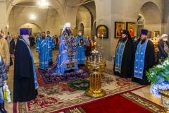 Накануне  Престольного праздника обители ректор семинарии совершил всенощное бдение