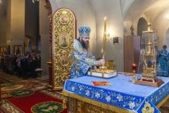 В Престольный праздник обители ректор семинарии совершил праздничное богослужение