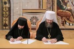 Состоялось подписание договора о международном сотрудничестве между Тамбовской духовной семинарии и Минской духовной академией