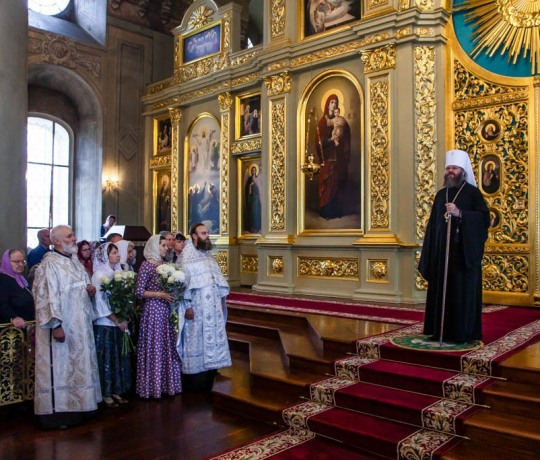 12 сентября митрополит Феодосий совершил Божественную литургию в кафедральном соборе города Тамбова