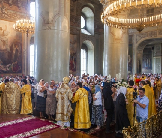 В Спасо-Преображенском кафедральном соборе состоялось празднование дня памяти святителя Питирима, епископа Тамбовского, и Собора святых, в земле Тамбовской просиявших