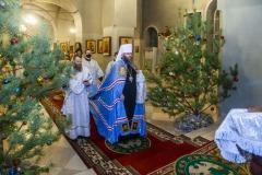 Ректор семинарии совершил  богослужение в Казанском мужском монастыре