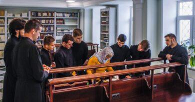Студенты пропедевтического курса Тамбовской духовной семинарии посетили семинарскую библиотеку